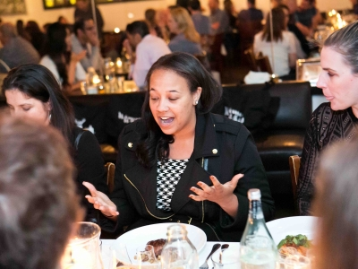 Ashley Holland (Agent; William-Morris-Endeavor) at AWD's Jeffersonian Dinner