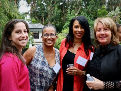 Emily Dell (AWD Board), Karyn Smith-Forge (SVP; Berlanti Productions), Bettina Fisher (AMPAS) and Rosemary Rodriguez (AWD Honorary Board) at our 2019  Friends of AWD Summer Event