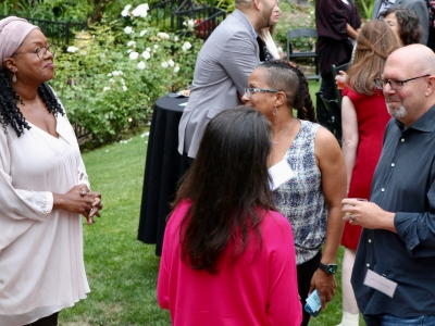 Wendy Calhoun (Writer/Producer), Karyn Smith-Forge (SVP; Berlanti Productions) and Marc Guggenheim (AWD Advisory Board/Showrunner) at our 2019  Friends of AWD Summer Event