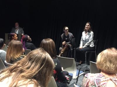 Sofia Streisand and WIP Chair Kim Furst